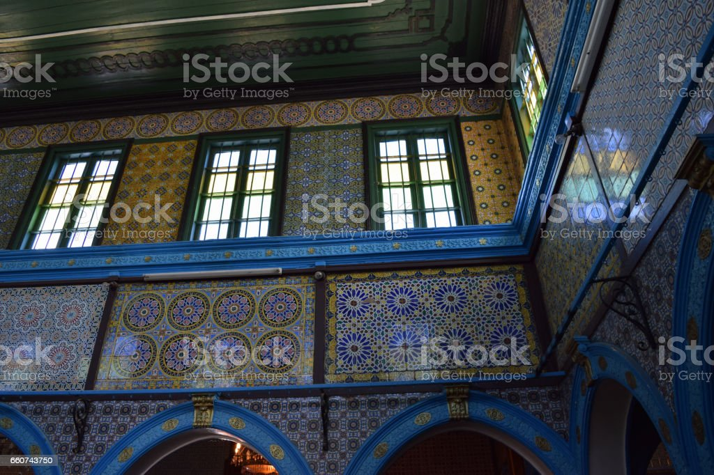El Ghriba synagogue (Djerba Synagogue) in Hara Seghira (Er-Riadh) jewish village stock photo