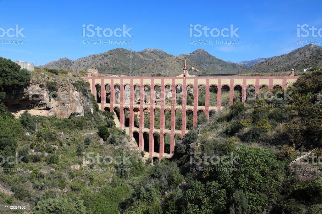 El Águile Aqueduct (The Eagle Aqueduct), Nerja Spain stock photo