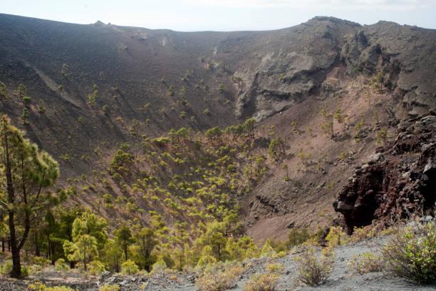 El Hierro island inner landscape stock photo