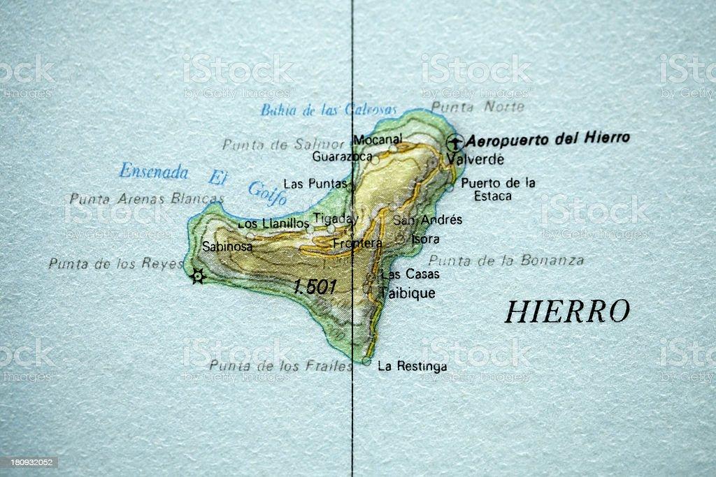 El Hierro Vintage Map Stock Photo More Pictures of Atlantic