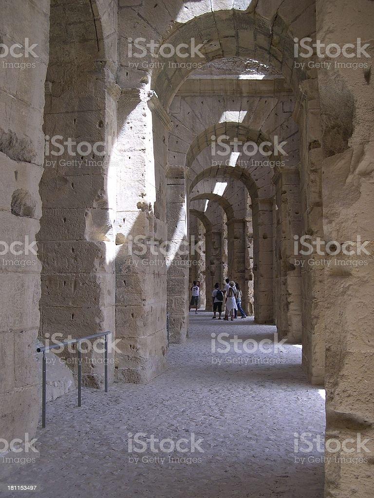 El Jem Amphitheatre royalty-free stock photo