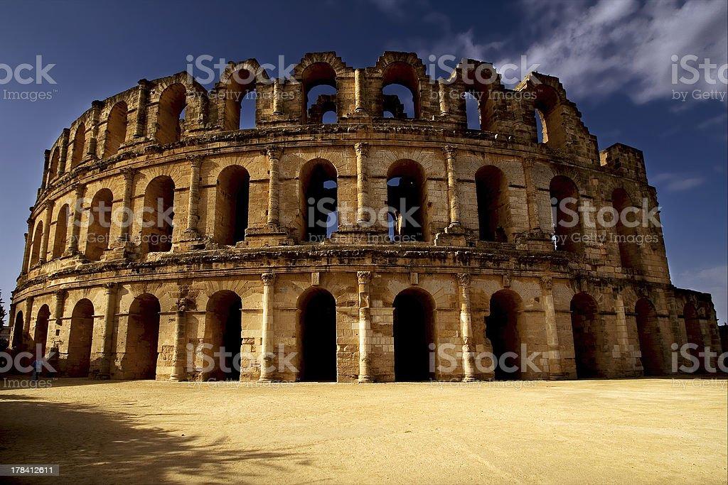el jem arena stock photo