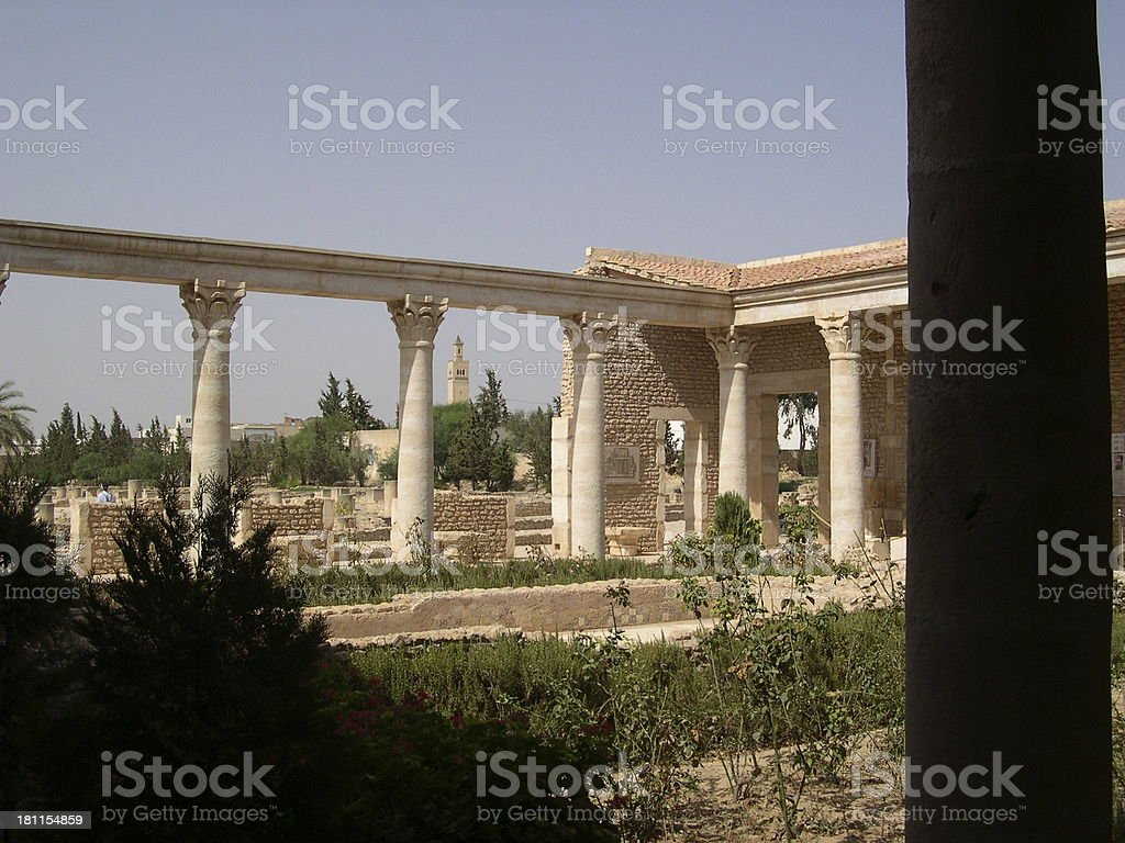 El Jem - Excavations stock photo