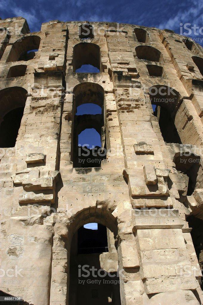 El Jem in Tunisia royalty free stockfoto