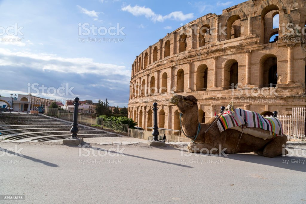 El Jem, Tunisia stock photo