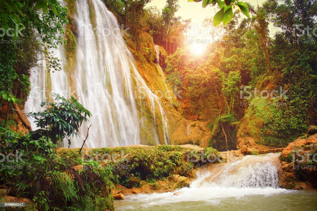 El Limon waterfall stock photo