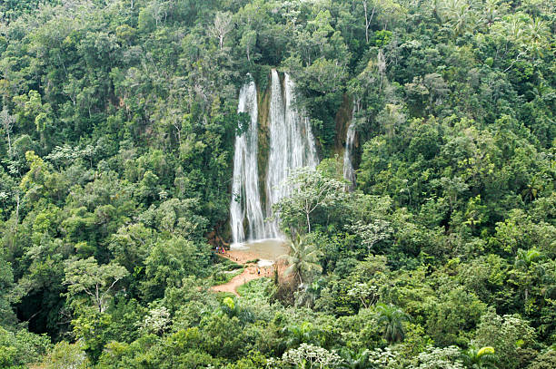 El limon waterfall, Samana peninsula stock photo