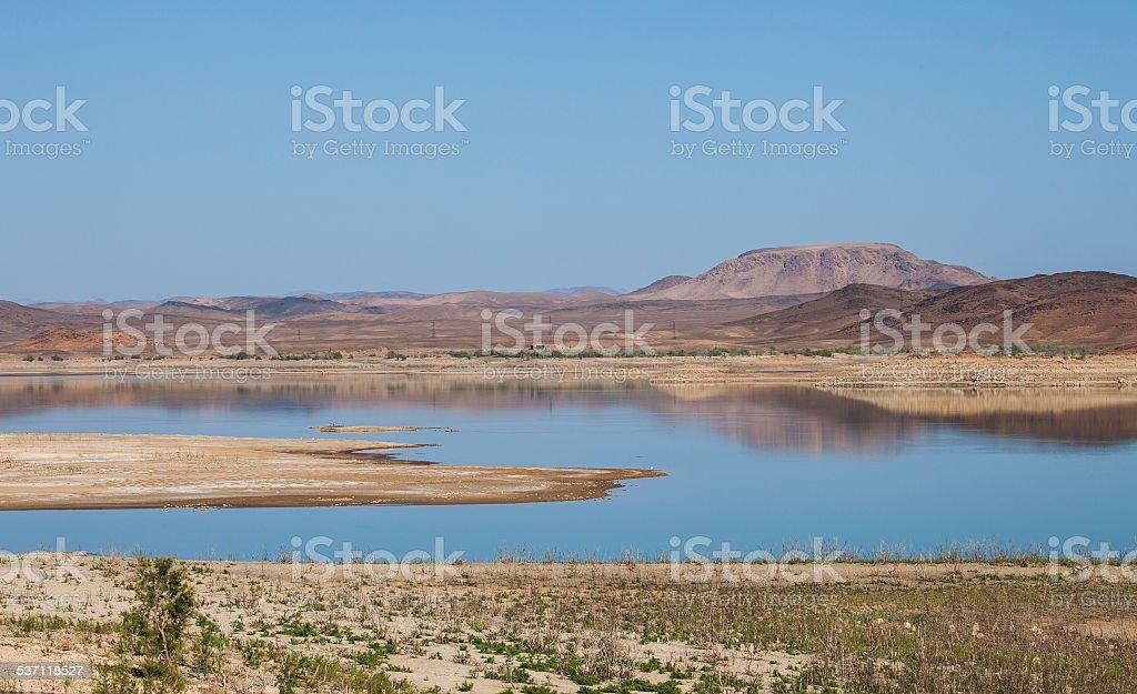 El Mansour Addahbi reservoir - Lake Mansour stock photo