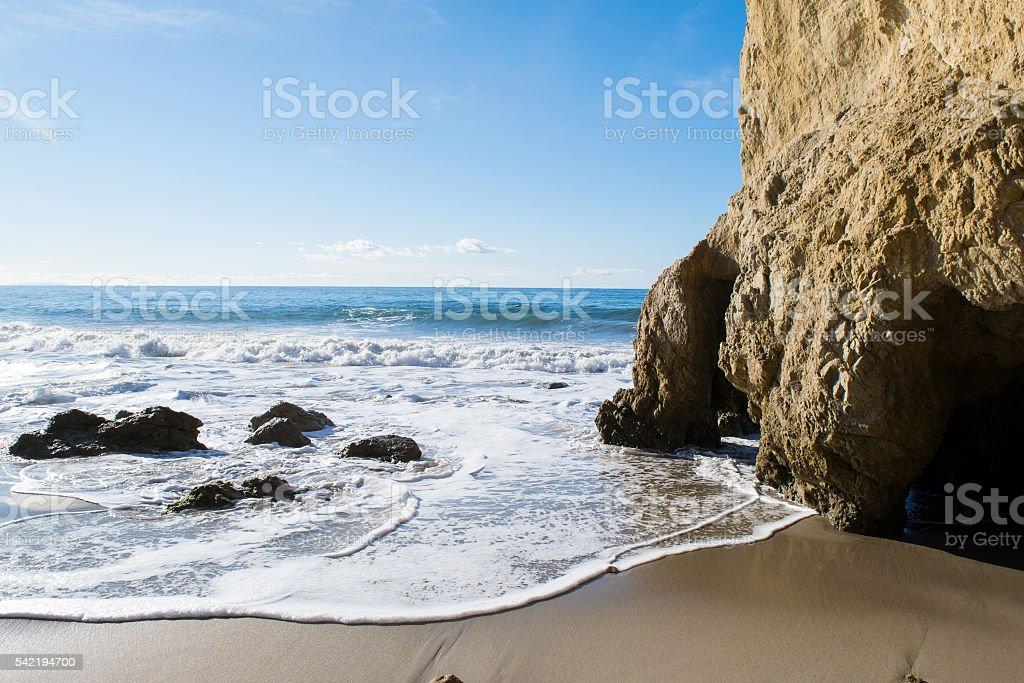 El Matador state park in Malibu Beach stock photo