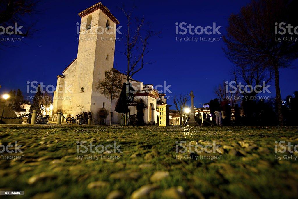 El Mirador in Granada royalty-free stock photo