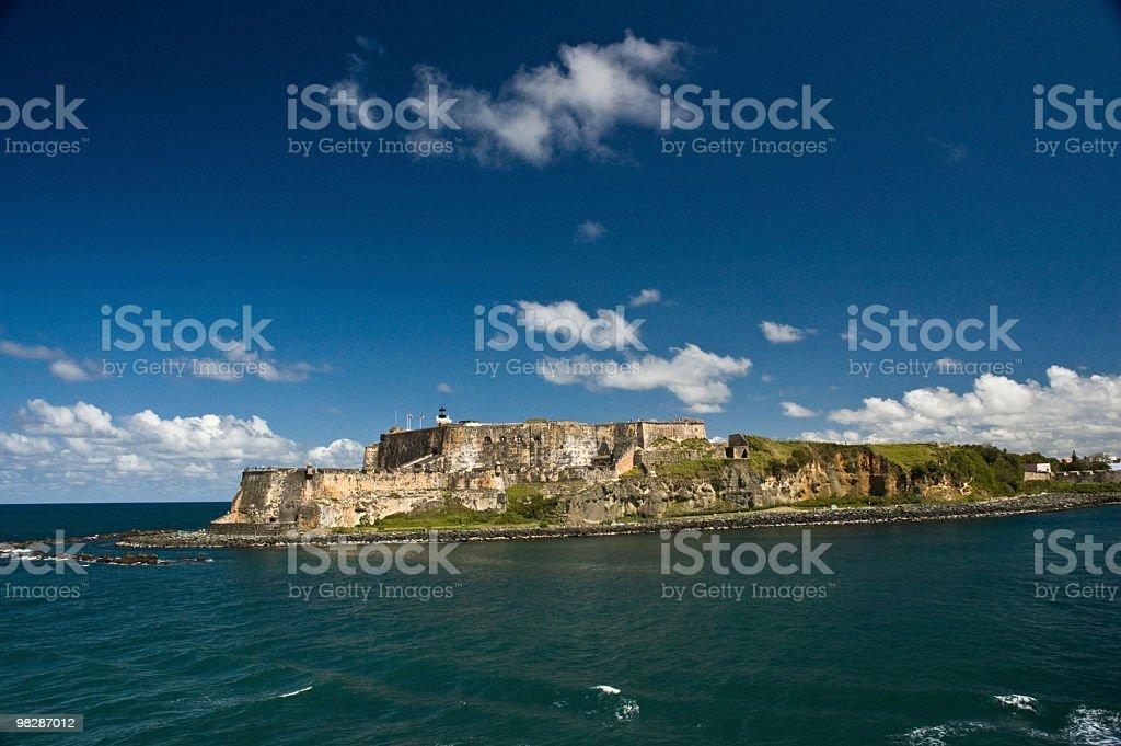 El Morro Castle. San Juan harbour.Puerto Rico royalty-free stock photo