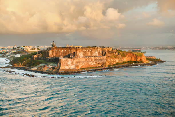El Morro Fort, Old San Juan, Puerto Rico stock photo