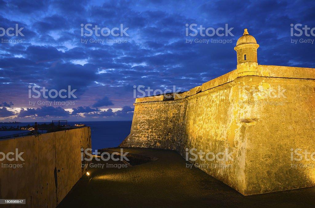 El morro puerto rico at night