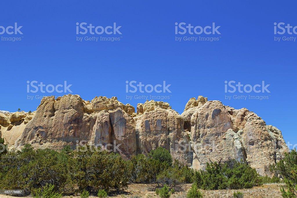 El Morro National Monument - Inscription Rock stock photo