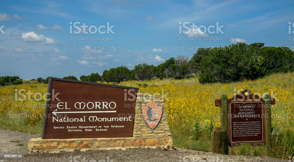 El Morro  National Monument - New Mexico. stock photo