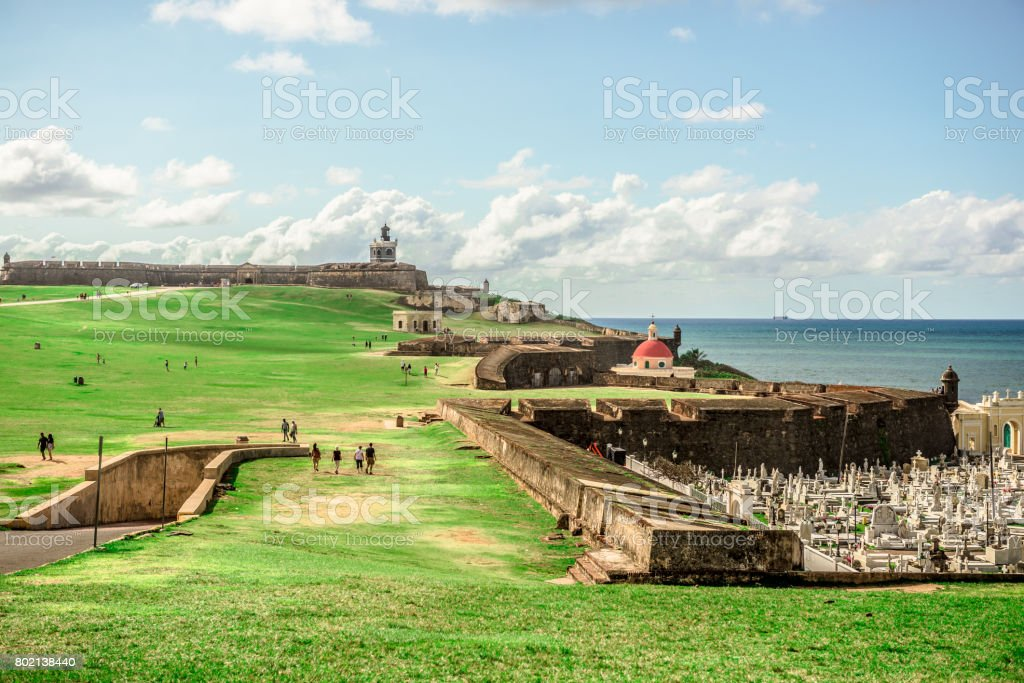 El Morro - Old San Juan stock photo
