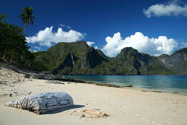 el nido beach palawan philippines - desert island stock photos and pictures