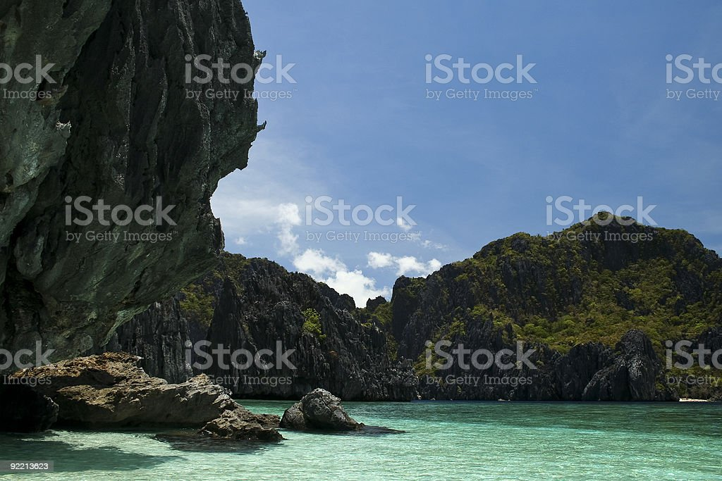el nido blue lagoon palawan philippines royalty-free stock photo