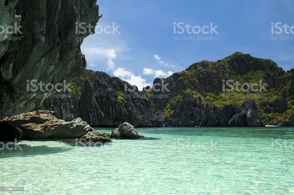 el nido karst coastline palawan philippines royalty-free stock photo