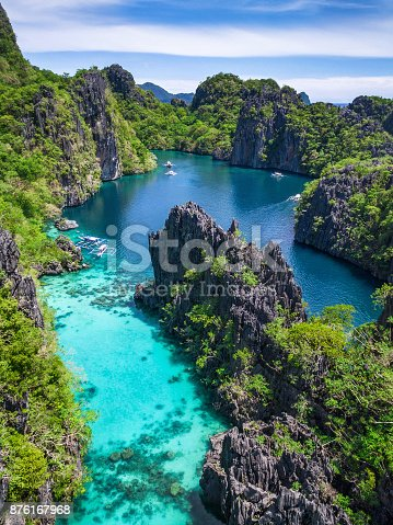 istock El Nido, Palawan, Philippines, Aerial View of Beautiful Lagoon and Limestone Cliffs 876167968