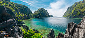 Beautiful day at El Nido, Philippines. High resolution panorama