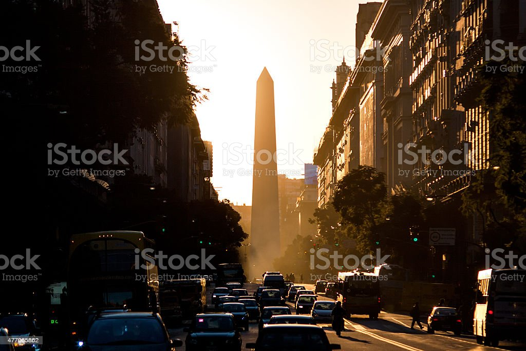 El Obelisco (Obelisk), Buenos Aires Argentinien stock photo