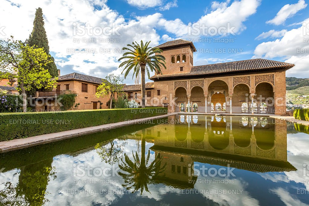 El Partal Alhambra de Granada stock photo