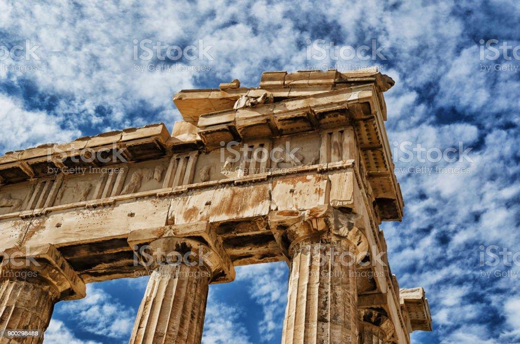 El Partenón a debate stock photo