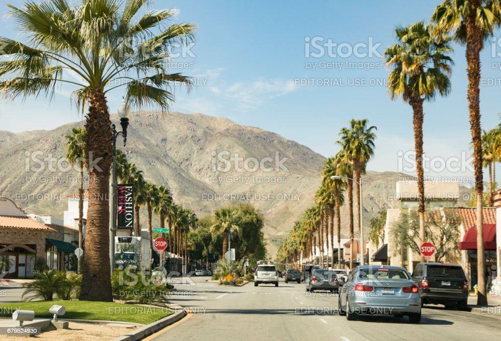 El Paseo in Palm Desert, California royalty-free stock photo