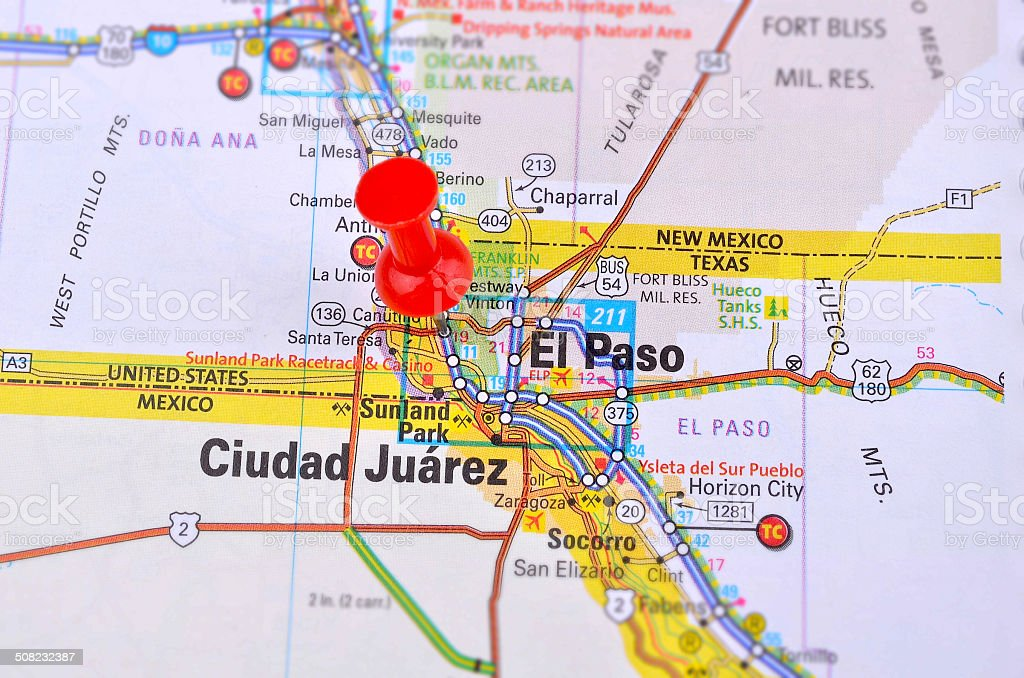 El Paso And Map Stock Photo - Download Image Now - iStock