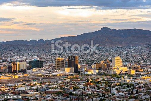 Beautiful El Paso after sunset