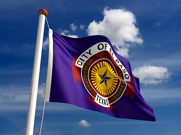 El Paso Texas flag USA stock photo