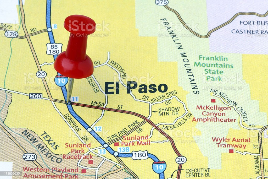 El Paso Texas On A Map Stock Photo More Pictures of City iStock