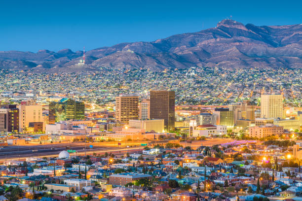 El Paso, Texas, USA Downtown Skyline stock photo