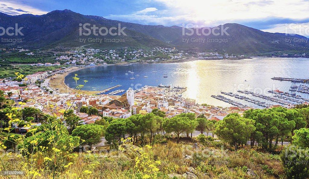El Port de la Selva - Costa Brava (Spain) stock photo