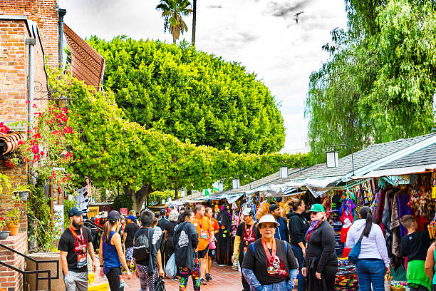 El Pueblo Street Stalls - Los Angeles stock photo
