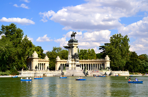 El Retiro Park in Madrid, Spain