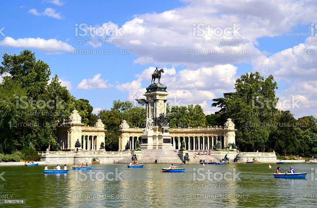 El Retiro Park in Madrid, Spain stock photo