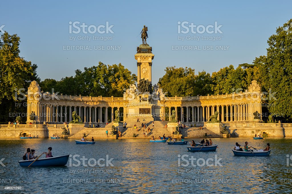 El Retiro Park - Madrid, Spain stock photo