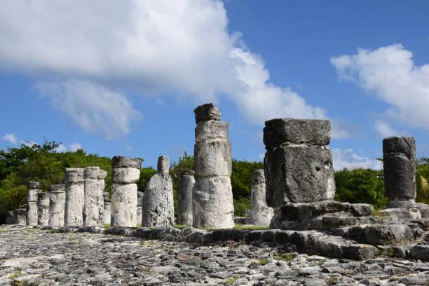 El Rey Mayan Ruins in Cancun, Mexico stock photo