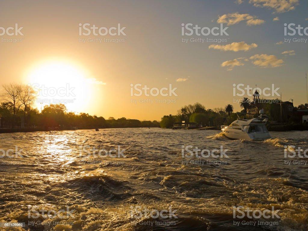 El Rio de la Plata. El Tigre Delta. Argentina stock photo