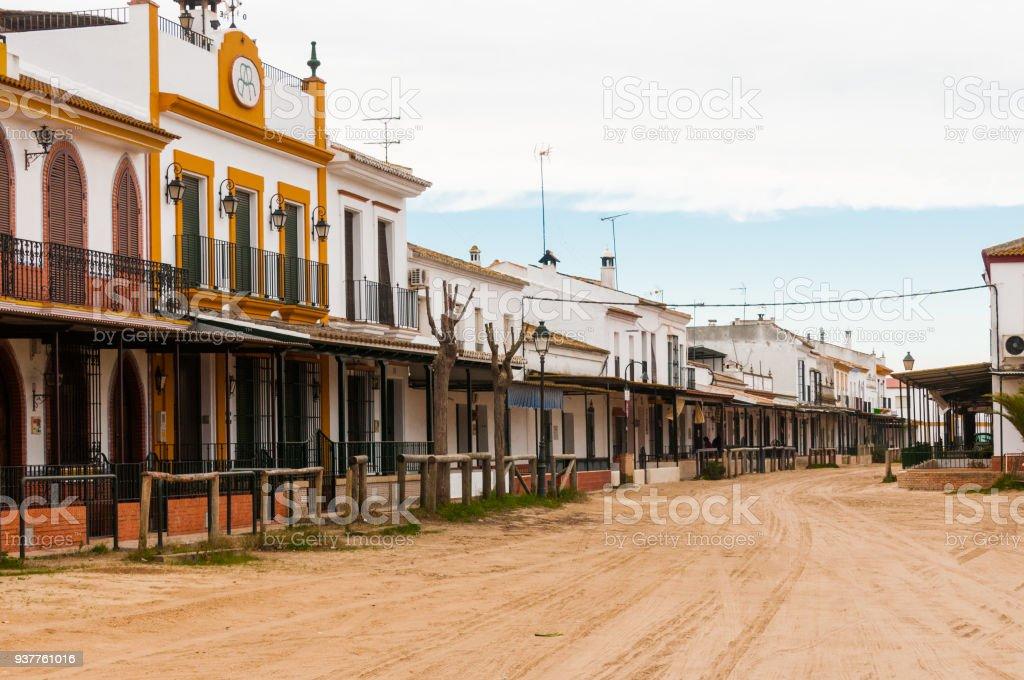 El Rocio Dorf in Andalusien, Spanien – Foto