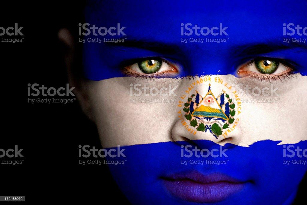 El Salvador boy stock photo