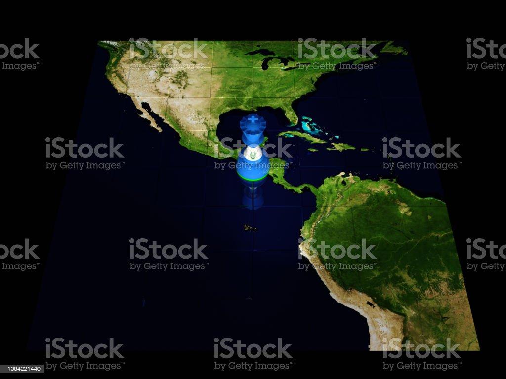Carte Amerique Du Sud Jeu.Photo Libre De Droit De Carte De Jeu Dechecs El Salvador