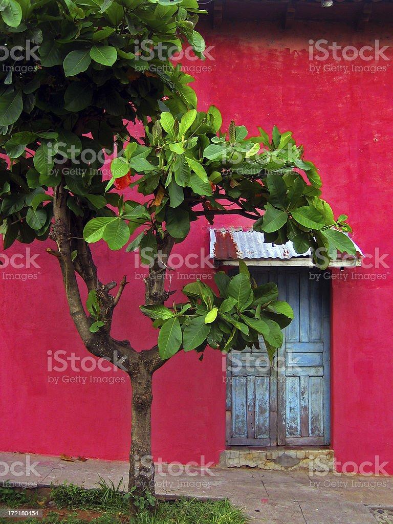 El Salvador Door stock photo