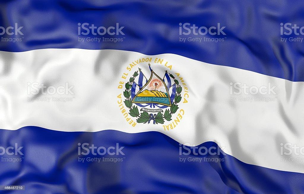 El Salvador flag 3d illustration stock photo