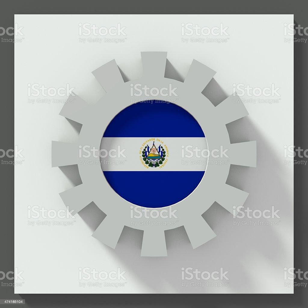 El Salvador flag gear stock photo