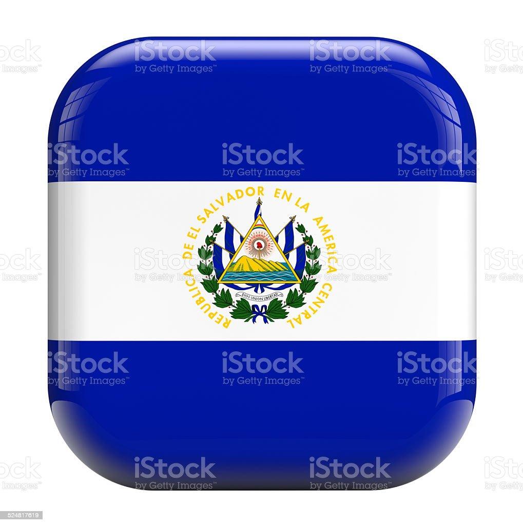 El Salvador flag icon image stock photo