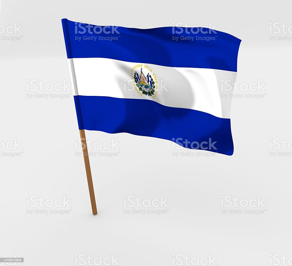 El Salvador flag illustration stock photo