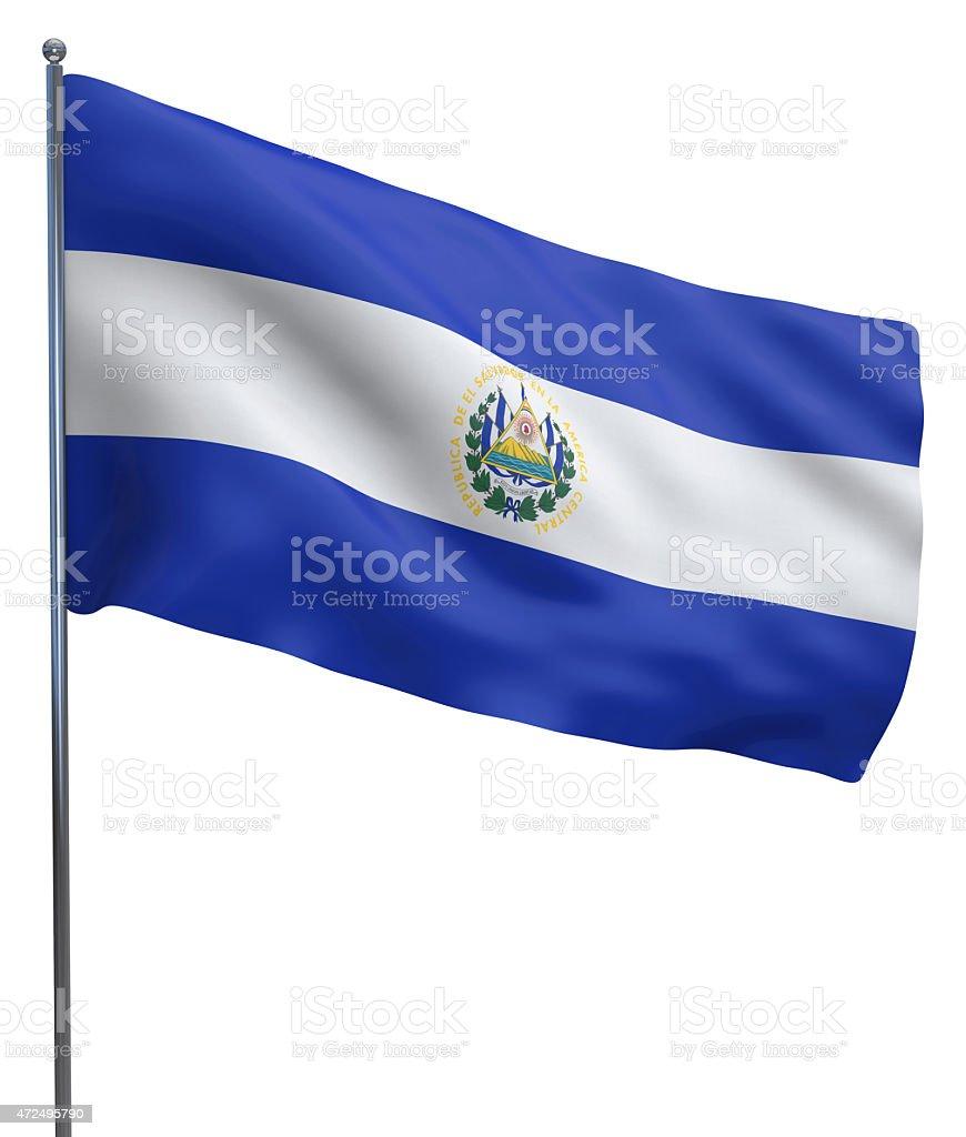 El Salvador Flag Image stock photo